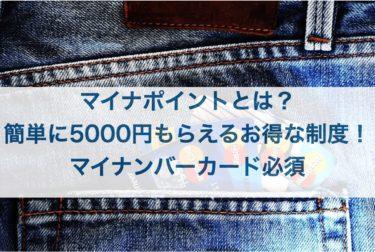 マイナポイントとは?簡単に5000円もらえるお得な制度!マイナンバーカード必須