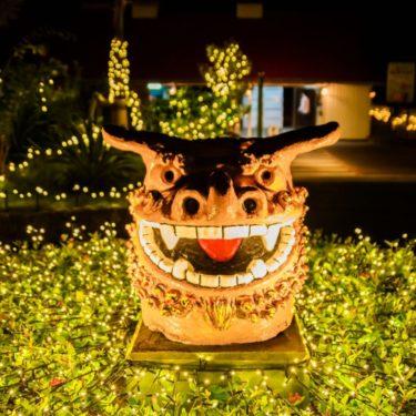 イルミネーションスポット!沖縄東南植物楽園「ひかりの散歩道」!インスタ映え間違いなし!