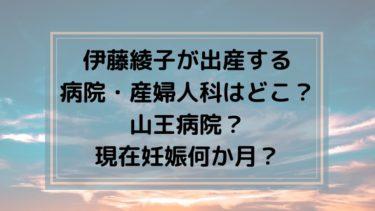 伊藤綾子が出産する病院・産婦人科はどこ?山王病院?現在妊娠何か月?